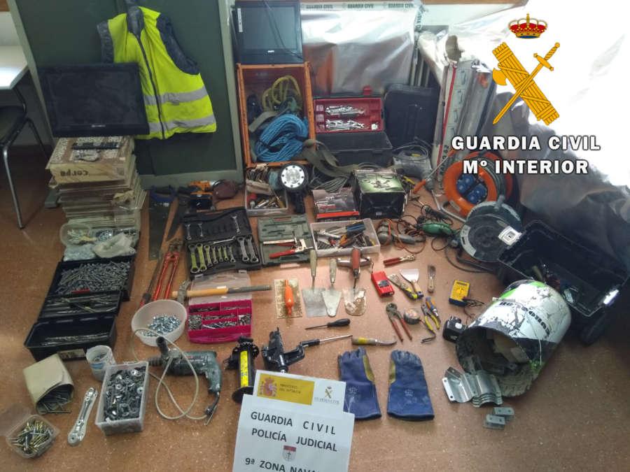 Detenidos por delito de robo con fuerza en la Merindad de Olite (Navarra)