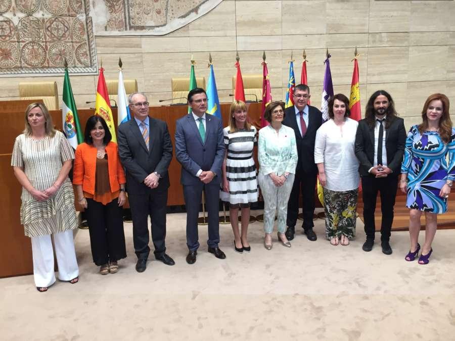 Presidentes de parlamentos autonómicos analizan en Mérida la reducción en los fondos de cohesión europeos