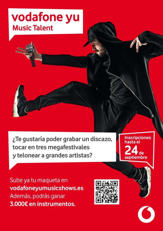 VI Edición de Vodafone yu Music Talent para grabar tu música y tocar