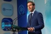 """García Egea duda de que el PSOE """"promueva el cumplimiento de la legalidad"""""""