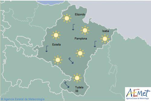 Bajan las temperaturas en Navarra pero se mantiene la alerta para la ribera del Ebro