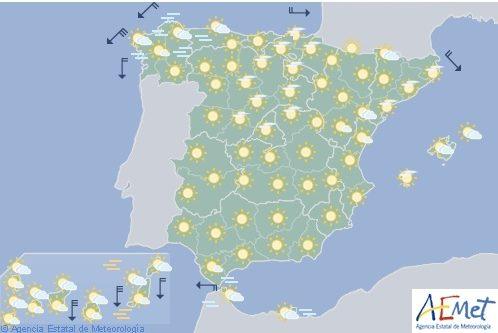 Hoy en España, temperaturas altas en el interior y Baleares