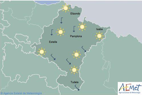 En Navarra cielo despejado y temperaturas con pocos cambios