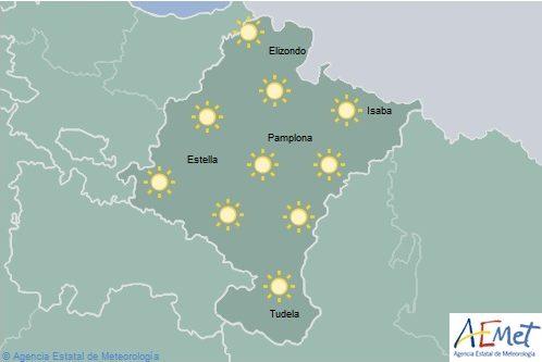 En Navarra cielo despejado con máximas en aumento