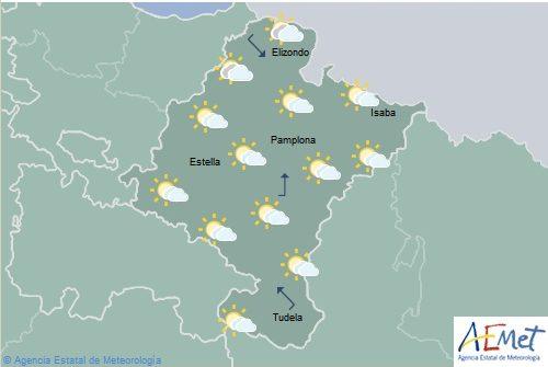 Chubascos con tormentas en la mitad oriental de Navarra, temperaturas en descenso