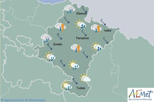 En Navarra el cielo nuboso con tormentas de granizo, descenso temperaturas
