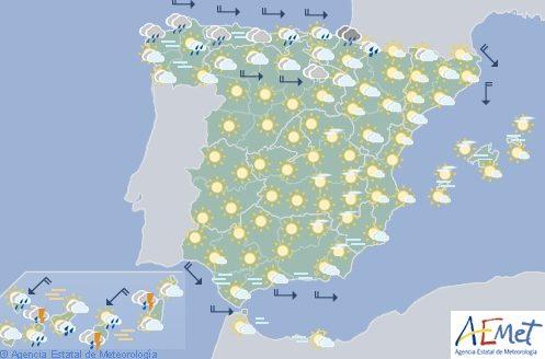 Hoy en España, chubascos y tormentas en el norte, noreste, Canarias y Baleares