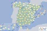 Hoy en España, chubascos y tormentas localmente fuertes al este de Cataluña y Baleares