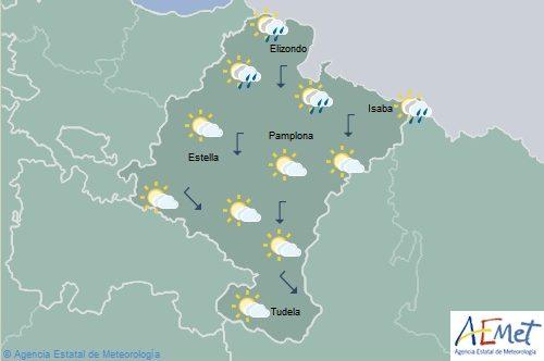 En Navarra descenso notable de temperaturas viento flojo del norte