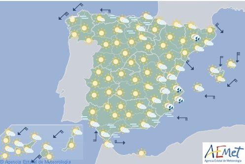 Hoy, probabilidad de tormentas fuertes en el sudeste de España