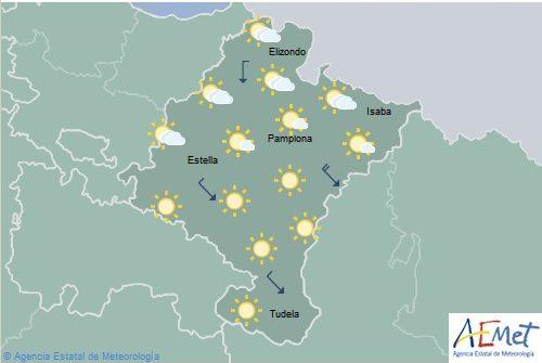 En Navarra poco nuboso o despejado, temperaturas en aumento