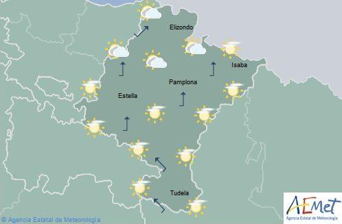 En Navarra nubosidad de evolución con chubascos en la Ribera del Ebro