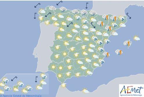 Hoy en España, tormentas fuertes en este de Aragón, Baleares, Cataluña y Huesca