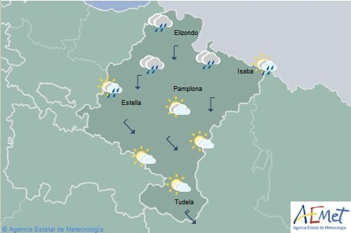 Descenso notable de las temperaturas en Navarra y posibilidad de lluvias intensas