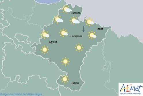 En Navarra nubosidad de evolución con temperaturas en descenso