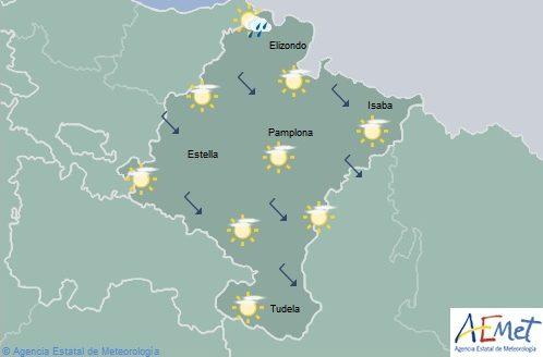 En Navarra intervalos de nubes altas, temperaturas máximas en aumento