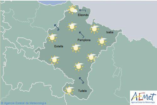 En Navarra cielo poco nuboso, temperaturas en ascenso