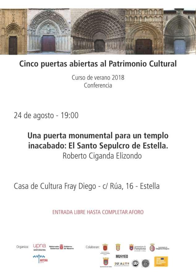 AGENDA: 24 de agosto, en Casa de Cultura de Estella (Navarra), conferencia de Roberto Ciganda Elizondo