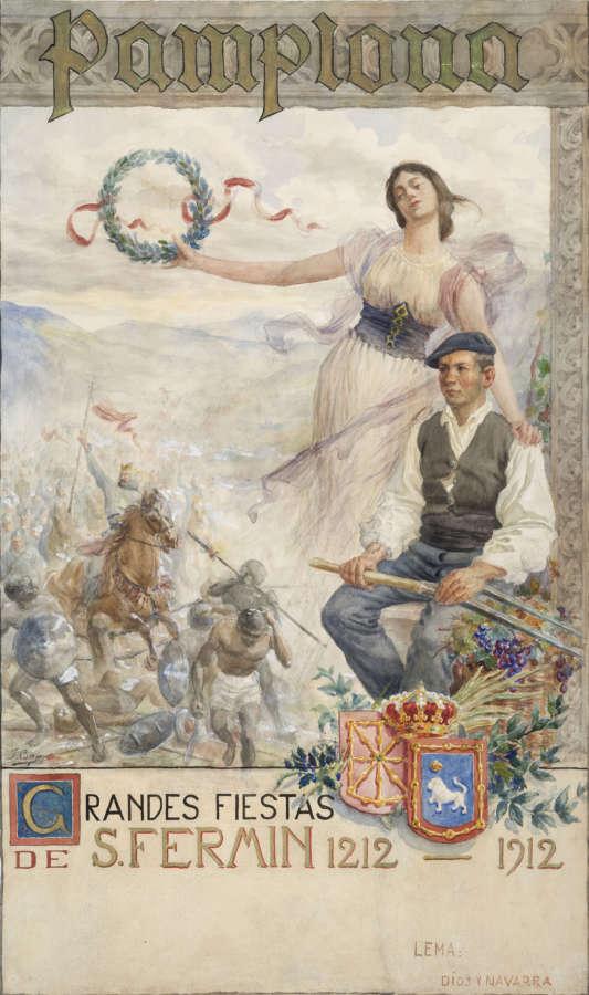 El Museo de Navarra incorporará a su colección el boceto inédito del cartel de Sanfermines de Javier Ciga