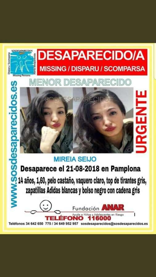 Piden colaboración para localizar a una menor desaparecida