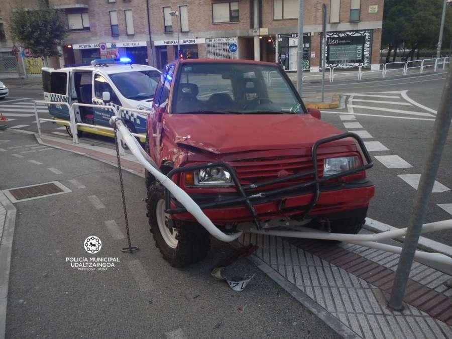 Dos heridos en 15 accidentes de tráfico este fin de semana en Pamplona