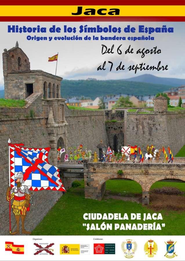 Exposición sobre la historia de la bandera y símbolos de España en Jaca (Huesca)