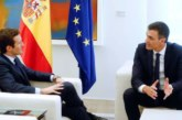 Sánchez y Casado hablan de Navarra, entre otros asuntos, en La Moncloa