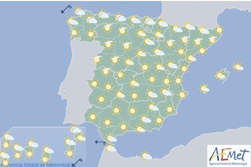 Hoy en España, probabilidad de tormentas en el este y en Baleares