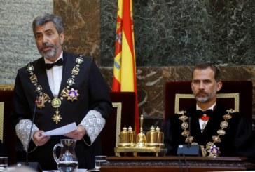 El Rey abre el año judicial marcado por el juicio al  proceso soberanista