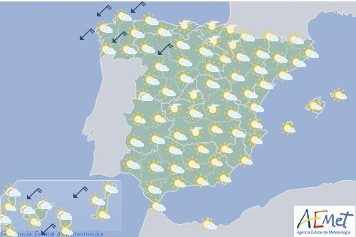 Hoy en España, descenso acusado de temperaturas en el oeste