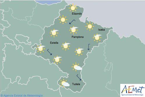 En Navarra nubosidad de evolución con posibilidad de algún chubasco en el tercio este