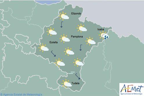 En Navarra, nubosidad de evolución con chubascos y tormentas en el este