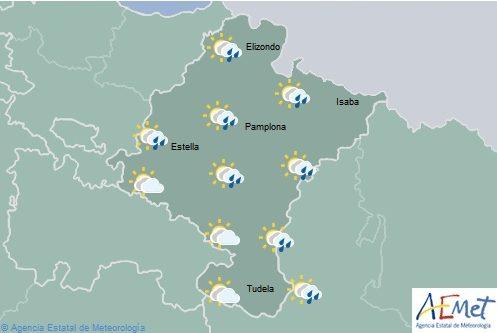 En Navarra nuboso o cubierto con chubascos y tormentas