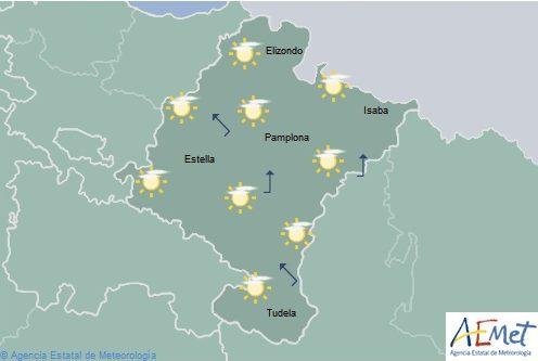 En Navarra intervalos de nubes aumentando a cubierto con tormentas