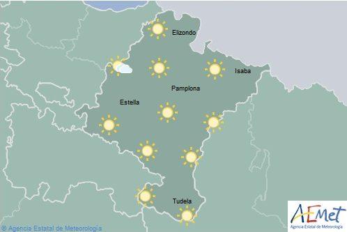 En Navarra poco nuboso o despejado con temperaturas en aumento