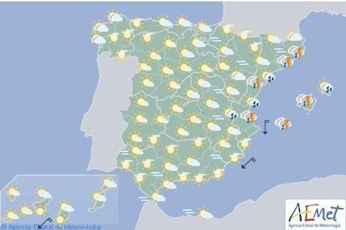 Precipitaciones se extenderán hoy a gran parte de España incluyendo Baleares