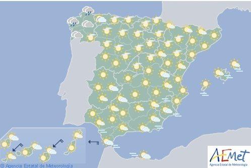 Tiempo estable en la mayor parte de España salvo en el extremo norte