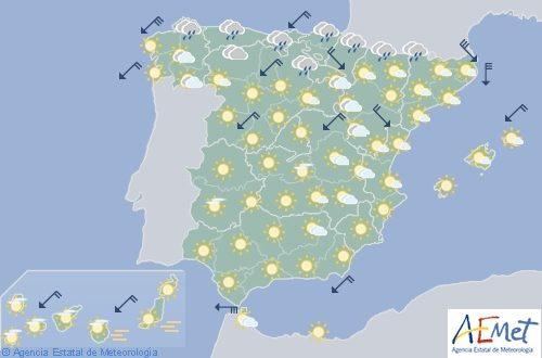 Hoy en España, calor en el suroeste, Costa Mediterránea y Canarias