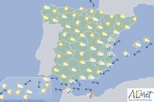 Hoy en España suben las temperaturas suben en el norte y bajan en el sureste