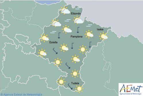 En Navarra nubosidad de evolución, temperaturas máximas en ligero descenso