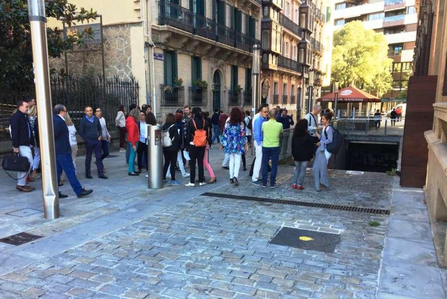 Desalojado el Parlamento de Navarra, de forma ordenada, en un simulacro