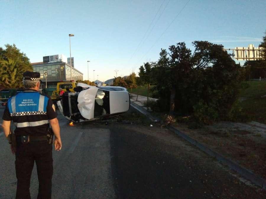 Imputado un joven tras sufrir un accidente en el Polígono Agustinos