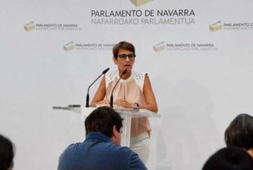 """Chivite mantiene que no contar con Bildu es una """"cuestión de posicionamiento político"""""""