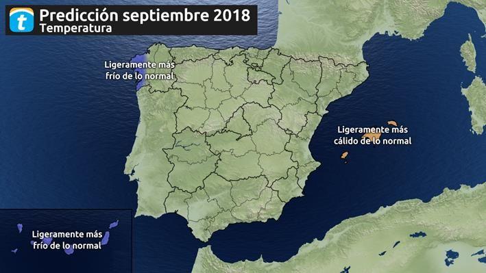 Se prevé un septiembre más lluvioso de lo normal en España, según Tiempo.es