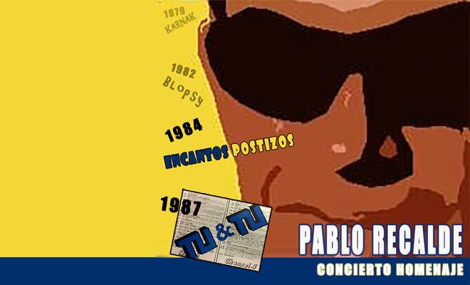 Compañeros del músico Pablo Recalde le rinden un homenaje