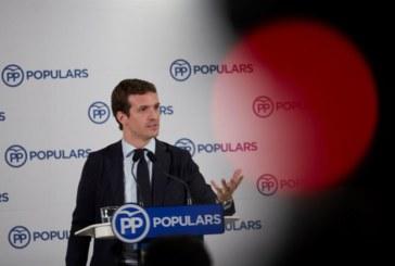 """Casado dice que Sánchez ha cruzado «todas las líneas rojas"""" y pide a los """"socialistas avergonzados"""" sumarse al PP"""