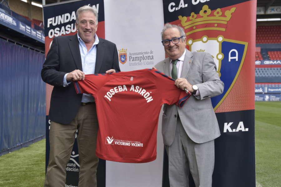 Firmado convenio colaboración entre el club atlético Osasuna y el Ayuntamiento de Pamplona