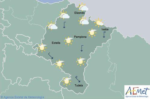 En Navarra cielo poco nubosos y temperaturas con pocos cambios