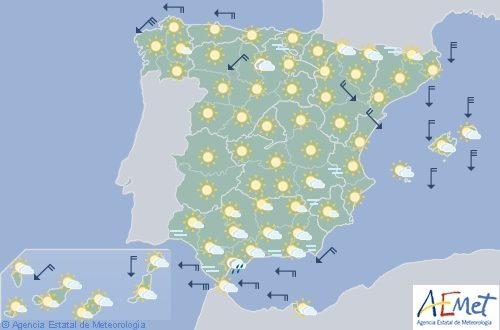 Hoy en España aumento de temperaturas en el noreste y descenso en Andalucía