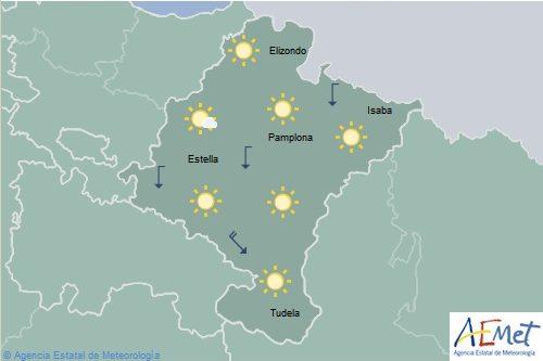 En Navarra temperaturas en ascenso, cielo poco nuboso